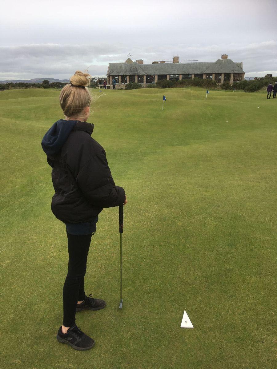 Sylvie on Himalayas putting green at St Andrews Golf course.jpeg