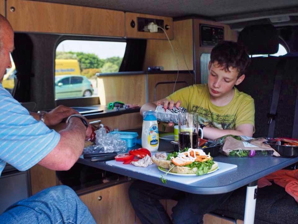 Nick Harry Georgie chicken watercress sandwiches Sussex Campervans 2.jpg