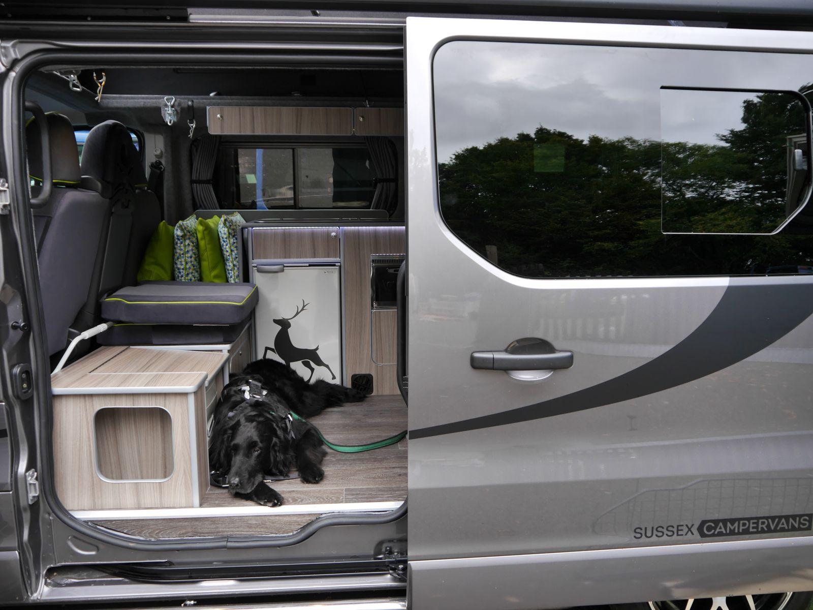 dog friendly campervan ottoman in Manhattan MPV Sussex Campervans.JPG