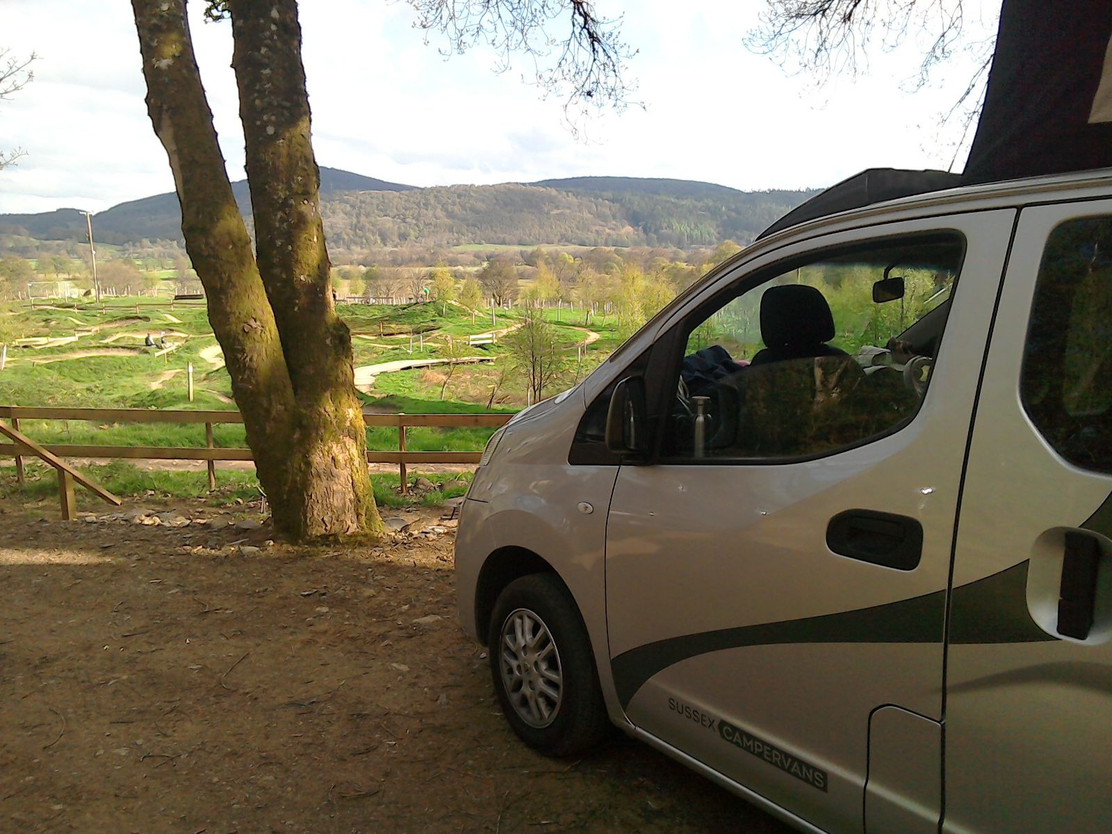 The Starlight Silver Nissan NV200 campervan is compact enough to drive anywhere in Scotland.jpg