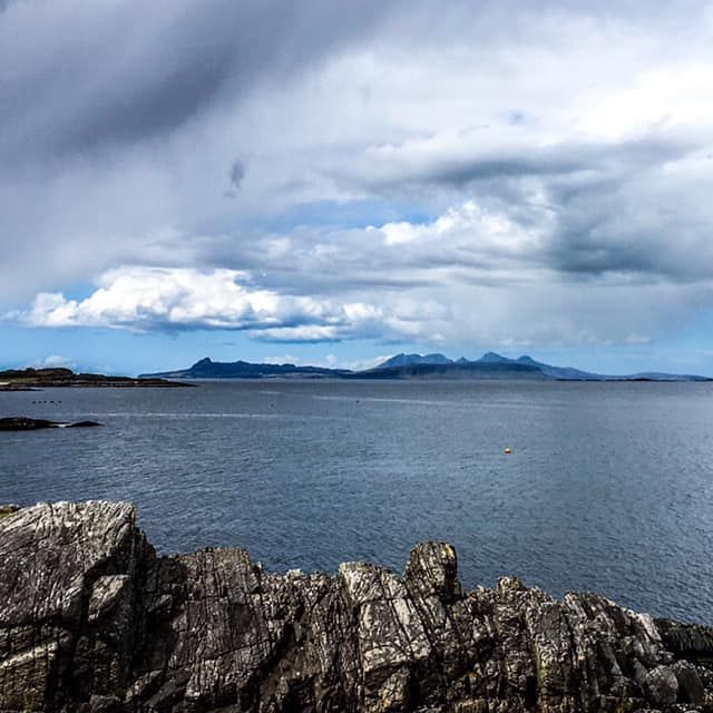 NC500 view of Eigg
