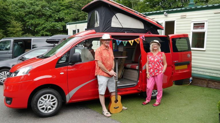 NV200 camper Sussex Campervans John Julie bunting.JPG