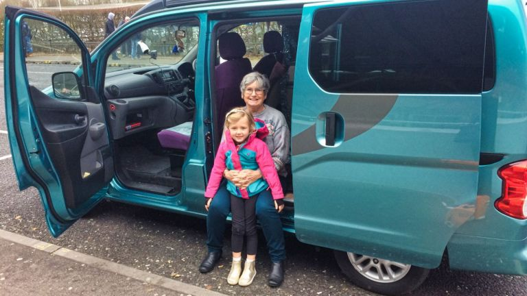 JennyN and granddaughter.CamperCar.JPEG