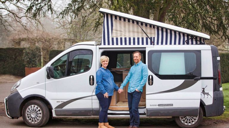 Steph and Chris Couch-maternity with florence the campervan.JPEG